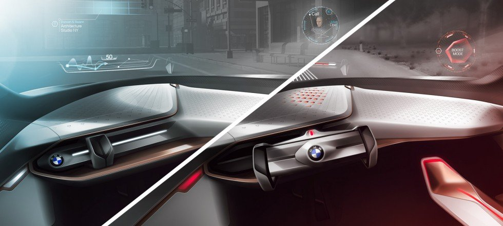 Режимы boost и ease в BMW Vision Next 100